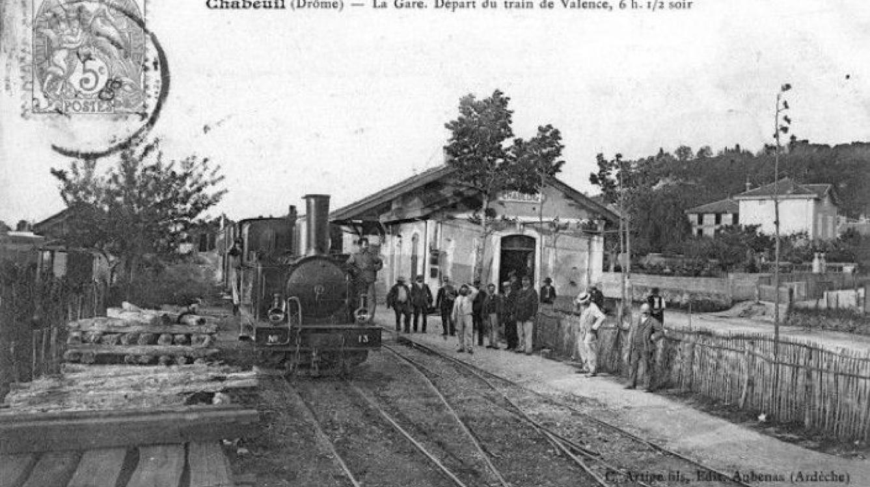 Chabeuil (Drôme) : la gare (coll E. Mandrillon)