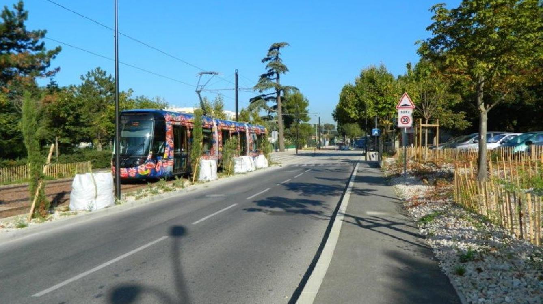 Tramway d'Aubagne Entre Château blanc et le Charrel