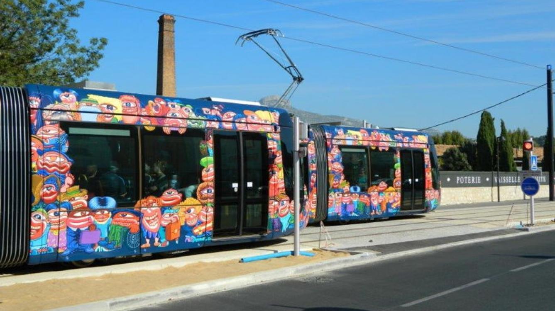 Tramway d'Aubagne à Ravel Decroix