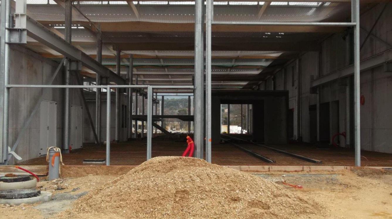 Tramway d'Aubagne - Intérieur du bâtiment de maintenance